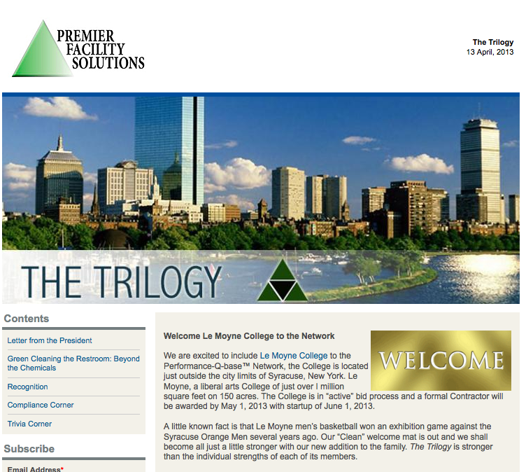 The Trilogy Newsletter