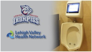 IronPigs first to feature 'urinal gaming'--Video games added to men's restrooms at Coca-Cola Park